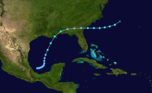 1923 Atlantic hurricane season - Image: 1923 Atlantic tropical storm 1 track