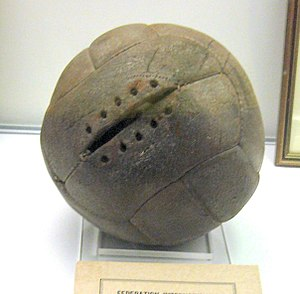 Ball (association football) - Image: 1930 World Cup Final ball Argentina