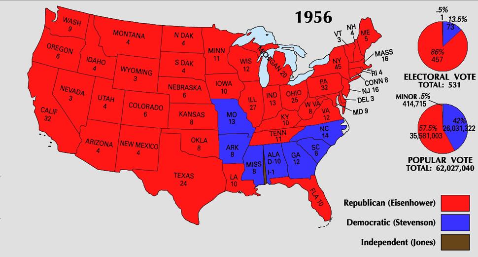 1956 Electoral Map