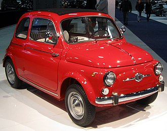 Italian economic miracle - The Fiat 500, launched in 1957, is considered a symbol of Italy's economic miracle.