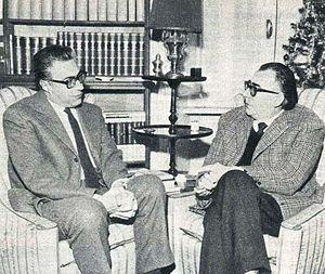 Diego Fabbri - A 1964 photo showing Fabbri and Luigi Silori.
