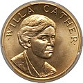 1981 Willa Cather Half-Ounce Gold Medal (obv).jpg