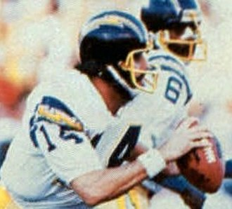 """Dan Fouts - Fouts led the Chargers to a victory in the storied """"Epic in Miami"""" 1981 AFC Divisional Playoff game, setting several postseason passing records."""