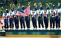 1996 Olympic Softball Team. Dionn Harris second from left.jpg