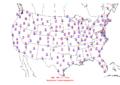 2006-11-16 Max-min Temperature Map NOAA.png