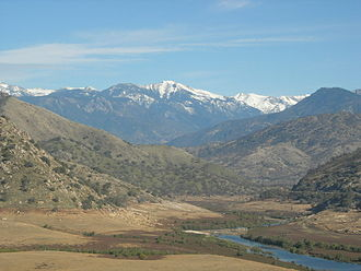 Kaweah River - The Kaweah River above Terminus Dam