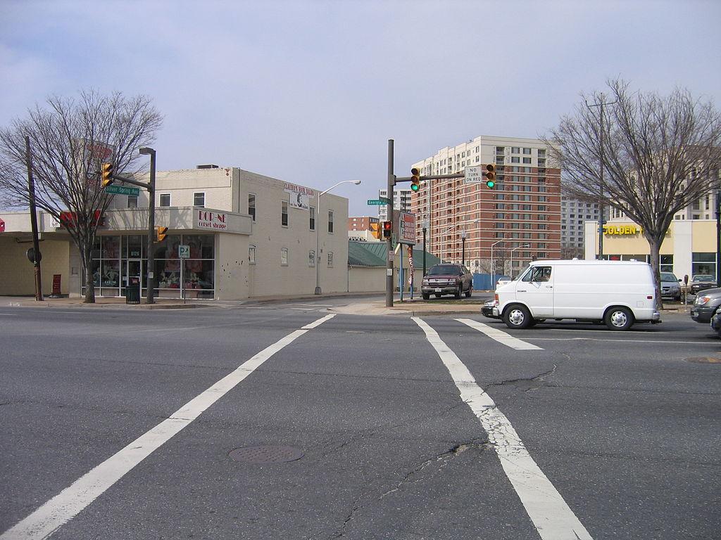 ... US 29 (Georgia Avenue) at Silver Spring Avenue, Silver Spring, MD, USA