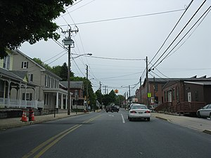 Akron, Pennsylvania - Main Street at Pennsylvania Route 272