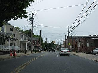 Akron, Pennsylvania - Main Street at Pennsylvania Route 272