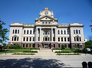 Das Brown County Courthouse in Green Bay, gelistet im NRHP[1]