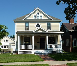 St. Peter, Minnesota - The John A. Johnson House is listed on the NRHP.