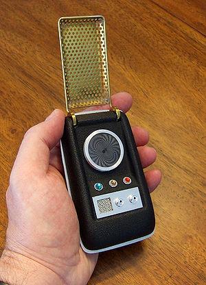 Communicator (Star Trek) - A 23rd-century communicator as used in Star Trek: The Original Series.