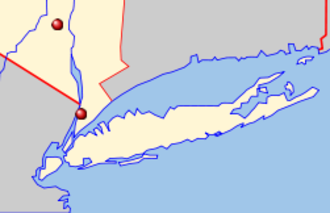 2009 Bronx terrorism plot - Location of the two targets.