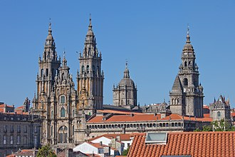 Santiago de Compostela Cathedral - Overview of the cathedral complex.