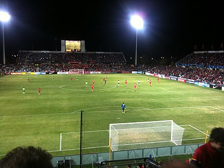 Adelaide United against Jeonbuk Hyundai Motors in the AFC Champions League in 2010. 2010 AFC Champions League Adelaide United vs Jeonbuk Hyundai Motors.jpg