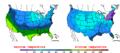 2011-01-24 Color Max-min Temperature Map NOAA.png