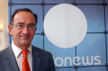 """Philippe Cayla, CEO of TV """"euronews"""" since 2003"""