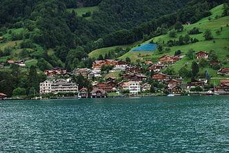 Sigriswil - Merligen village along Lake Thun