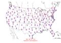 2013-11-24 Max-min Temperature Map NOAA.png
