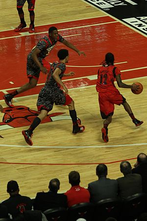 Crossover dribble - Image: 20130403 MCDAAG Anthony Barber does a crossover on Nigel Williams Goss (3)