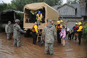 2013 Colorado floods - Colorado National Guardsmen respond to floods in Boulder County.