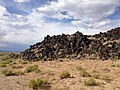 2014-07-18 17 02 18 Close view of the west edge of the Black Rock Lava Flow, Nevada.JPG