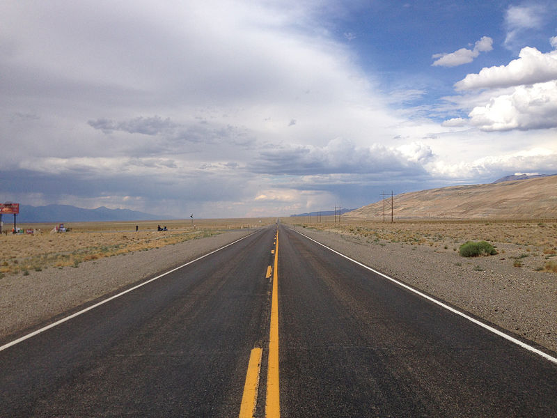 File:2014-07-30 15 52 49 View north along Nevada State Route 376 (Tonopah-Austin Road) about 44.8 miles north of U.S. Route 6 near Round Mountain, Nevada.JPG