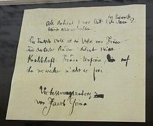 """Verbesserungsantrag Grimms für die Grundrechte des deutschen Volkes 1848: """"Das deutsche Volk ist ein Volk von Freien und deutscher Boden duldet keine Knechtschaft. Fremde Unfreie, die auf ihm verweilen, macht er frei."""" Der Verbesserungsantrag wurde nicht angenommen. (Quelle: Wikimedia)"""