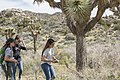 2017 Student Summit on Climate Change - Joshua tree Monitoring Project - Students locate study trees using GPS (32650602824).jpg