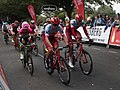 2018 Tour of Britain stage 3 124 Jose Neves, 151 Alex Dowsett and 154 Nils Politt.JPG