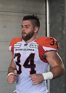 David Mackie (Canadian football) Professional Canadian football fullback