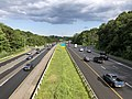 2019-07-24 17 18 49 View east along Interstate 695 (Baltimore Beltway) from the overpass for U.S. Route 1 (Belair Road) in Overlea, Baltimore County, Maryland.jpg