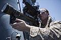 22nd MEU LAAD practices target tracking aboard USS Bataan 140508-M-HZ646-055.jpg