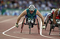 231000 - Athletics wheelchair racing 800m T54 final Louise Sauvage silver action - 3b - 2000 Sydney race photo.jpg