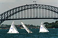 251000 - Sailing Sydney Harbour Bridge view - 3b - 2000 Sydney race photo.jpg