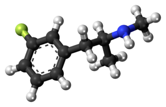 3-Fluoromethamphetamine - Image: 3 Fluoromethamphetamin e molecule ball
