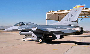 302d Fighter Squadron - Image: 302d Fighter Squadron General Dynamics F 16D Block 32H Fighting Falcon 87 0381
