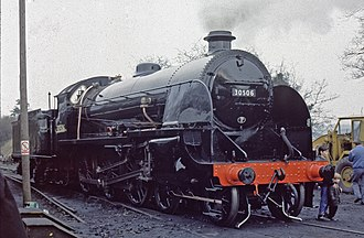 Robert Urie - Preserved S15 class 4-6-0 freight locomotive No. 506 (as BR 30506) at Ropley on the Mid-Hants Railway in the 1980s