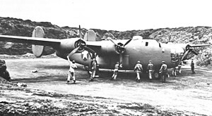 Naval Air Facility Adak - 36th Bomb Squadron B-24 Liberator at Adak AAF