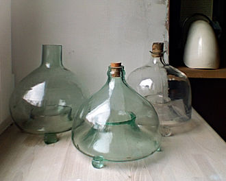 Fly-killing device - Three fly bottles from Central Europe, beginning of the 20th century