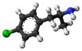 4-Chloroamphetamine molecule ball.png