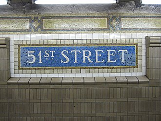 Lexington Avenue/51st Street (New York City Subway) - Image: 51 Street IRT 001
