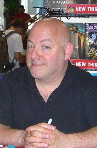 Brian Michael Bendis - Bendis at a signing at Midtown Comics in Manhattan on June 21, 2010