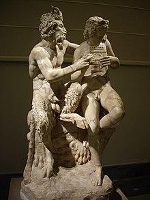 Pan insegna al pastorello Dafni a suonare il flauto (proveniente dalla collezione Farnese)