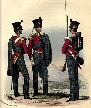 71st (Highland) Regiment of Foot - Regimental uniform, 1852