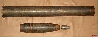 7.62 cm Pak 36(r) - Image: 76 Pak 36 case HE shell
