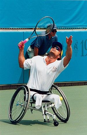 David Hall (tennis) - Hall during a match at the 1996 Atlanta Paralympics