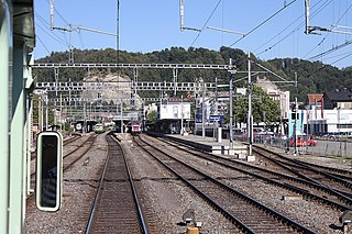 railway line in Switzerland