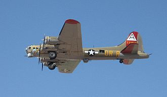 """Collings Foundation - Collings Foundation's B-17G """"Nine-O-Nine"""" just after take off at Marana, AZ in April 2012"""