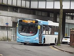 9A - National Express Coventry bus - Station Square, Coventry (13725900145).jpg